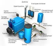 Монтаж вентиляции,  электрики и отопления
